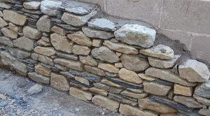 Landscape walling in progress