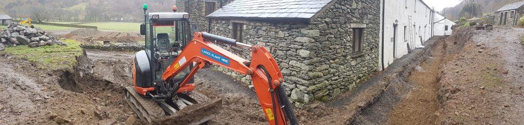 Ground Source Heat pump groundworks